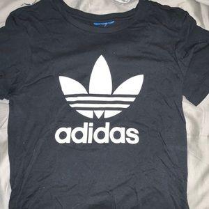 Balck adidas trefoil shirt